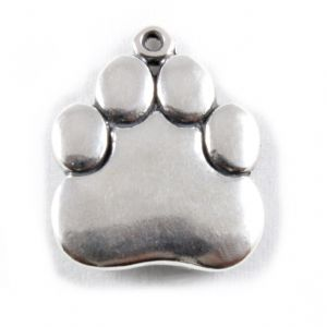 Charm School UK > Sterling Silver Charms > Dogs > Paw